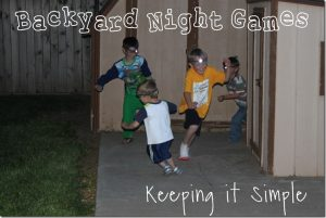 Backyard Night Games with Energizer Headlights