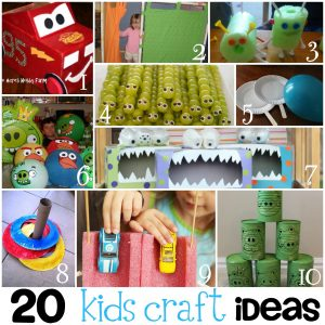 20 Fun Kids Crafts {Round Up}