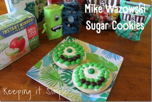 Monsters University Mike Wazowski Sugar Cookies