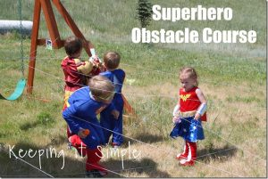 Superhero Obstacle Course {Playing Dress Up}