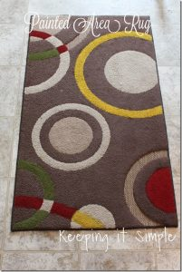 Painted Area Rug