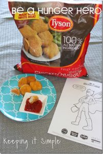 #ad Be #HungerHeroes with Tyson Chicken Nuggets