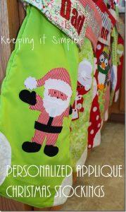 Personalized Applique Christmas Stockings #FabulouslyFestive