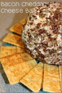 Easy Party Appetizer Idea: Bacon Cheddar Cheese Ball Recipe