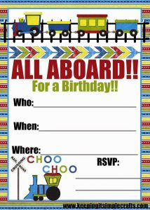 Train Boy Birthday Party Ideas: Games, Food, Favors and Shirt Idea.