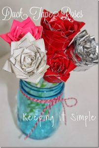 Easy Valentine's Day Idea: Duck Tape Roses #DuckValentine