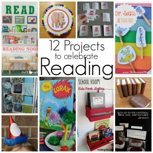 12 Projects to Celebrate Reading {MMM #216 Block Party}