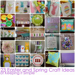 23 Easter and Spring Craft Ideas
