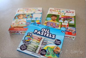 Master of the Arts Paint Kits: Finger Paints #kidscraft