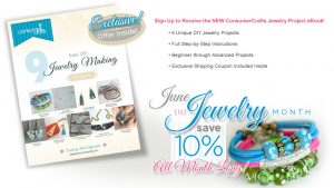 Consumer Crafts FREE jewelry eBook and $100 gift card GIVEAWAY