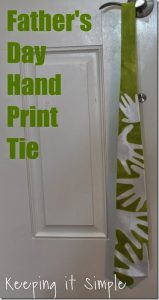 Father's Day Gift Idea: Handprint Tie