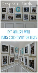 DIY Gallery Wall With Old Family Pictures