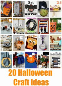 20 Halloween Craft Ideas {MMM #244 Block Party}