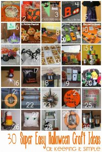30 Super Easy Halloween Crafts