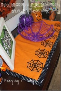 Easy Halloween Decor Idea: Spiderweb Table Runner