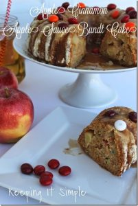 Apple Cinnamon Applesauce Bundt Cake #FlavorOfFall #CollectiveBias