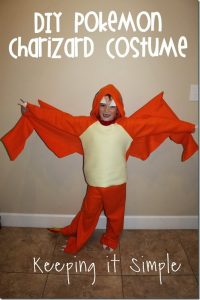 DIY Pokemon Charizard Dragon Costume