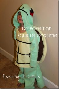 DIY Pokemon Squirtle Turtle Costume