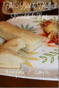 The Best and Fluffiest Homemade Breadsticks Recipe Ever