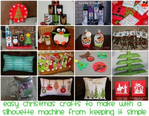 Christmas Crafts to Make with a Silhouette Machine and Silhouette Portrait GIVEAWAY