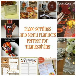 Place Settings and Menu Planners Perfect for Thanksgiving {MMM #253 Block Party}