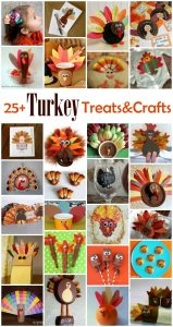 25 Turkey Treats and Crafts {MMM #251 Block Party}