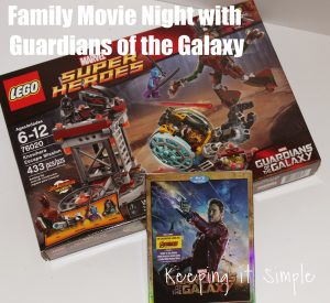 Fun Family Movie Night: Guardians of the Galaxy with Activity #OwntheGalaxy