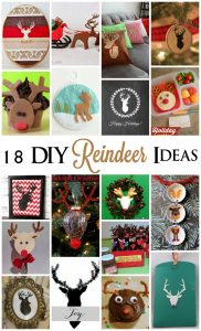18 DIY Reindeer Ideas {MMM #255 Block Party)