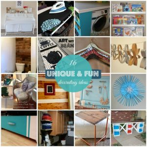 16 Unique and Fun Decorating Ideas {MMM #266 Block Party}