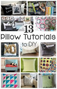 13 DIY Pillow Tutorials {MMM #268 Block Party}
