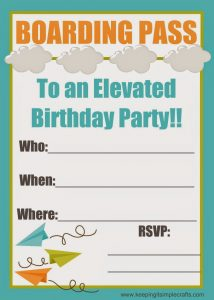 Boy Birthday Party Ideas: Paper Airplane Birthday with Food, Games and Printables