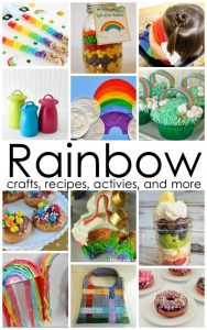 Rainbow crafts, recipes and more {MMM #267 Block Party}