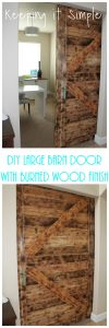 DIY Barn Door with Burned Wood Finish Perfect for Large Openings
