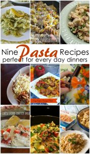 9 Pasta Recipes Perfect for Every Day Dinner {MMM #275 Block Party}