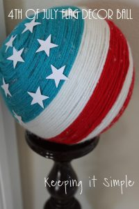 4th of July Decor Idea- Flag Decor Ball #MakeItFunCrafts