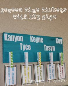 Screen Time Tickets with DIY Sign {Free Printable}