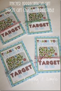 Teacher Appreciation Gift Idea- Target Gift Card with Printable
