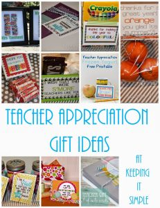 10 Teacher Appreciation Gifts with Free Printables