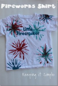 Easy DIY 4th of July Shirt: Fireworks Shirt using Pipe Cleaners