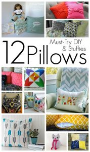 12 Must Try DIY Pillow Ideas {MMM #280 Block Pary}
