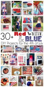 30+ Red White and Blue DIY Projects for the 4th Of July {MMM #284 Block Party}