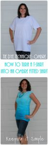 Tie Dye Ombre Technique: DIY Ombre Tie Dyed Shirt Refashion