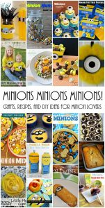 MINIONS Crafts, Food and Recipes {MMM #287 Block Party}