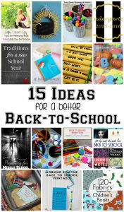 15 Ideas for a Better Back to School