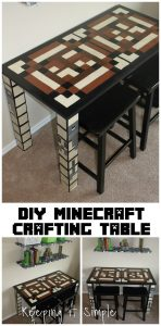 Boys Homework Station: DIY Minecraft Crafting Table