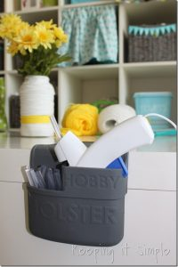 Yarn Wrapped Vase and Hobby Holster Glue Gun Holder