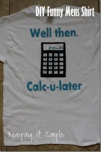 DIY Funny Mens Shirt Idea: Accounting Calculator Shirt