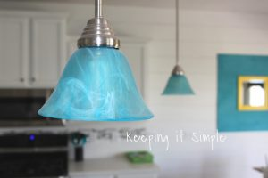 Turquoise Pendant Lights – How to Dye Light Shades