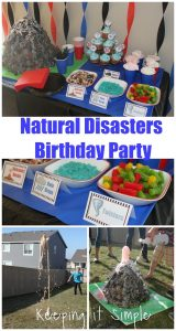 Boy Birthday Party Idea- Natural Disasters Party with Experiments and Activities