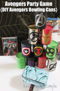 Avengers Party Game- DIY Avengers Bowling Cans